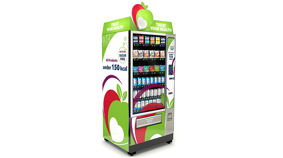 healthy vending machine left side view