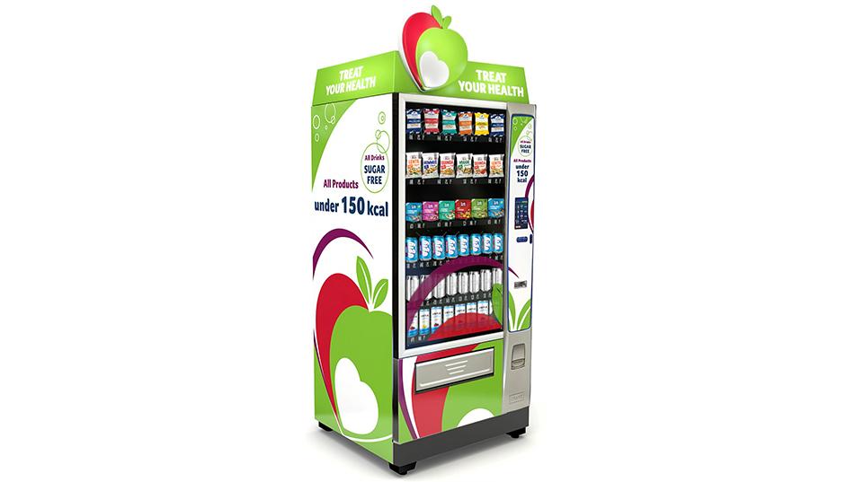 healthy vending machine left side view