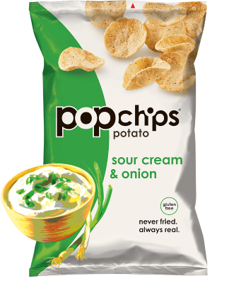 healthy snacks with coffee - popchips